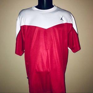 Nike Jordan Training Men Dri Fit Shirt Red White L